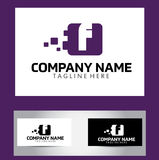 F Brief Logo Design Vector Business Card Stock Foto's
