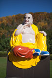 F Buddha rzeźba w Wietnamskim monasterze Zdjęcia Stock