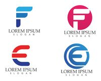 F business letter logo and symbols template vector icons Royalty Free Stock Photos