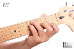 F/C σεμινάριο χορδών κιθάρων Στοκ εικόνα με δικαίωμα ελεύθερης χρήσης