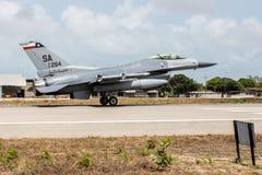 F-16C av U.S.A.F.et royaltyfria bilder