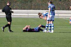 f C Barcelona kobiet drużyny futbolowej sztuka przeciw Istnemu Sociedad Zdjęcie Stock