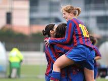 f C Barcelona kobiet drużyny futbolowej sztuka przeciw Levante Obraz Royalty Free