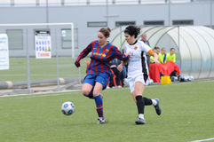 F.C Barcelona women's football team play against Levante Royalty Free Stock Photography