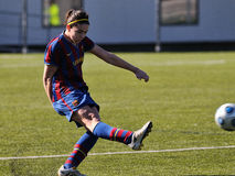 F.C Barcelona women's football team play against Rayo Vallecano Royalty Free Stock Images