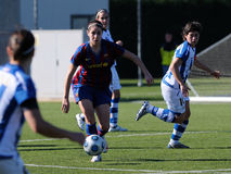 F.C Barcelona women's football team play against Real Sociedad Royalty Free Stock Photos