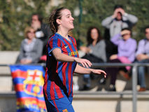 F.C Barcelona women's football team play against Real Sociedad Stock Image