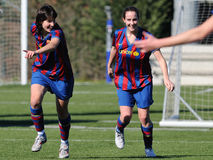 F.C Barcelona women's football team play against Real Sociedad Royalty Free Stock Image