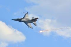 F-16C blok 52+ Royalty-vrije Stock Foto's