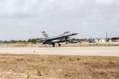 F-16C des U.S.A.F. lizenzfreie stockfotos