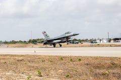 F-16C van de USAF royalty-vrije stock foto's