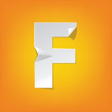 F capital letter fold english alphabet New design. The new design of the English alphabet, F capital letter was folded paper some of the letters. Adapted from royalty free illustration