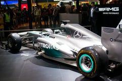 F1 car auto expo 2016 delhi Royalty Free Stock Photography