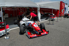 F3 car in the paddocks of  Monza Stock Image