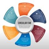 Fã circular Infographic Imagem de Stock