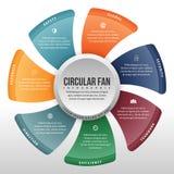Fã circular Infographic Fotografia de Stock Royalty Free