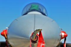 F16. Closeup of F16 Jet aircraft Stock Photography