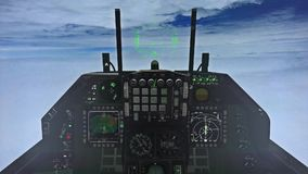 F-15 Cockpit Above the Clouds stock video