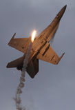 F-18 com alargamentos Fotografia de Stock