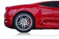 F430 d'isolement Ferrari sur le fond blanc Images libres de droits