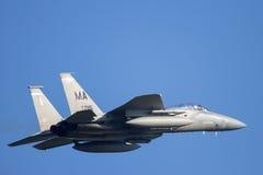 F-15 decolam Imagem de Stock Royalty Free