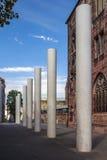 ³ f del fà de los pilares el Karthaeusergasse en Nuremberg, Alemania, 2015 Imágenes de archivo libres de regalías