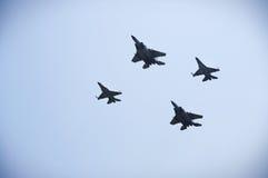 F-16 di quattro U.S.A. Fotografie Stock Libere da Diritti