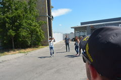 F1 Driver Lewis Hamilton Stock Photo