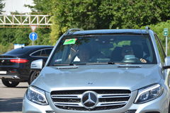 F1 Driver Nico Rosberg  is arriving to Budapest Royalty Free Stock Photo