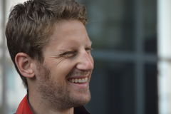 F1 Driver Romain Grosjean. Is among his fans and giving autographs on July 24, 2016 in Budapest, Hungary Royalty Free Stock Photography