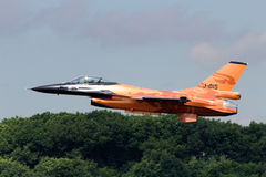Dutch F-16 flighter jet Stock Images