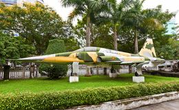 F-5E fighter aircraft. Museum of Ho Chi Minh Campaign Stock Photo