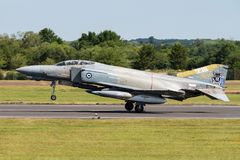 A F-4E Phantom II fighter jet of the Hellenic Air Force Royalty Free Stock Images
