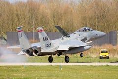 F-15 Eagle Kampfflugzeug Lizenzfreies Stockfoto