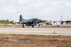 F-5EM TIJGER II van FAB in Verrichting Cruzex stock foto