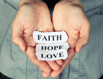 Fé, esperança e amor Fotos de Stock