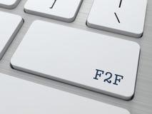 F2F. Conceito do Internet. Imagem de Stock