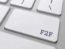 F2F. Concept d'Internet. Image stock
