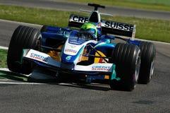 22 April 2005, San Marino Grand Prix of Formula One. Felipe Massa drive Sauber F1 during Qualyfing session on Imola Circuit stock image