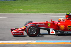 F1 Ferrari : Kimi Raikkonen - photos de voiture de Formule 1 Photo libre de droits