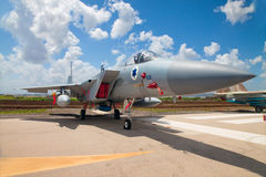 F-15 fighter at the exhibition for Independence Day Royalty Free Stock Image