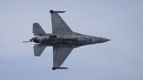 F16 fighter jet aircraft in flight Stock Image