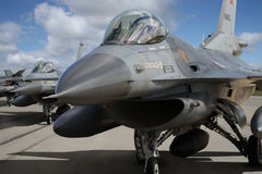 F16 fighter Royalty Free Stock Images