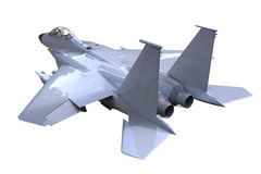 F-16 Fighting Falcon posture Side view. Isolated and background Stock Photography