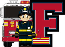 F is for Fireman Royalty Free Stock Photography