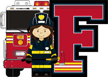 F is for Fireman Royalty Free Stock Images