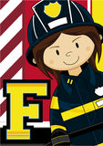 F is for Fireman Royalty Free Stock Photo
