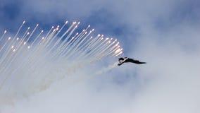 F-16 flares Royalty Free Stock Image