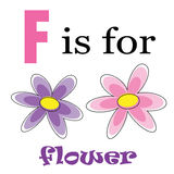 F is for Flower Stock Photo