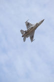 F16 airshow. F16 flying with high speed and high bank angle Stock Image